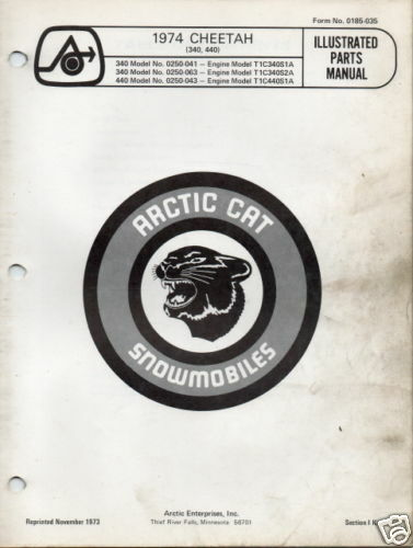 1974 artic Cat cheetah Manual