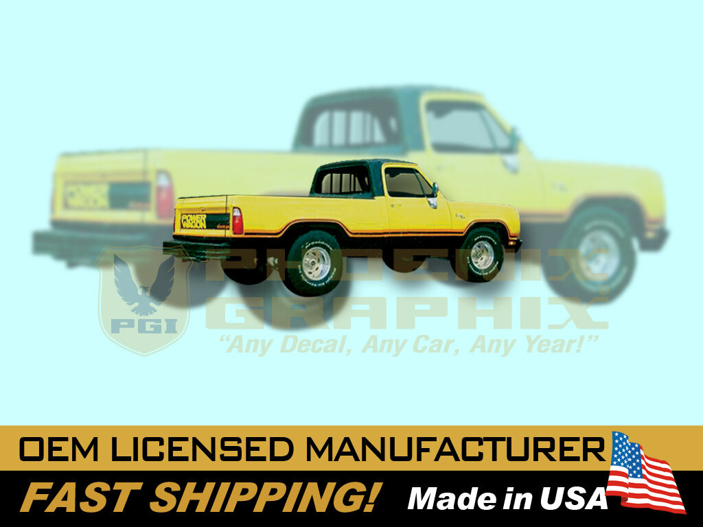 1977 1978 Dodge Macho Power Wagon Truck Decals Stripes Kit