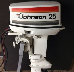 1977 Johnson 25 Hp Short Remote Electric Outboard Motor Ebay