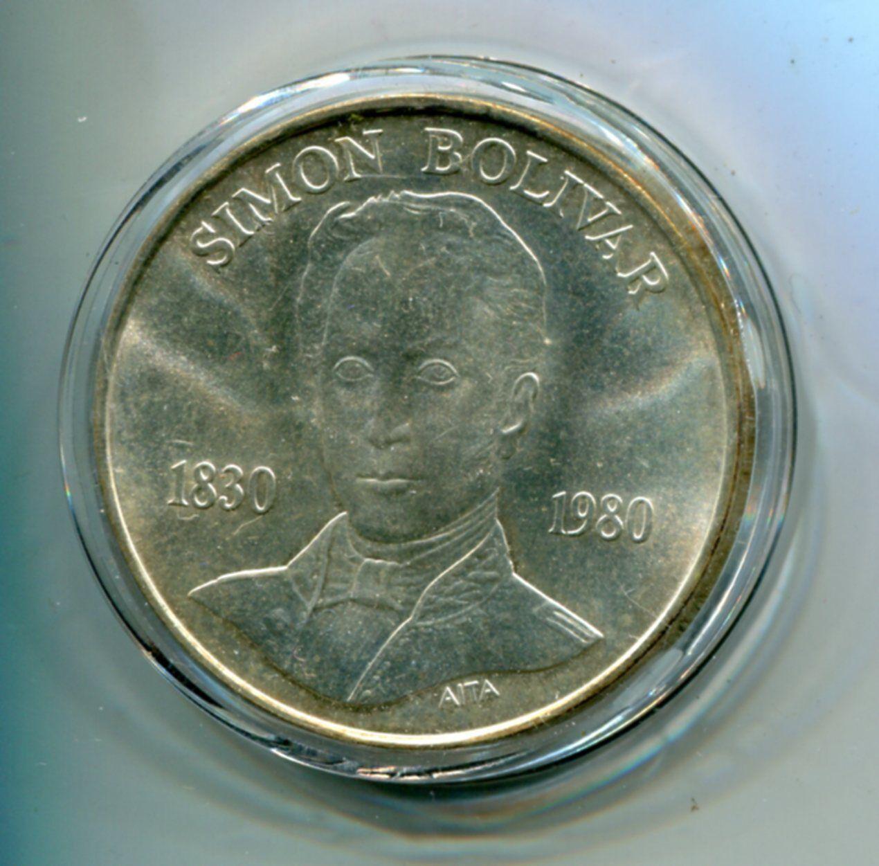 Details About 1980 Venezuela Commemorative Silver Coin 100 Bolivares Best Investment