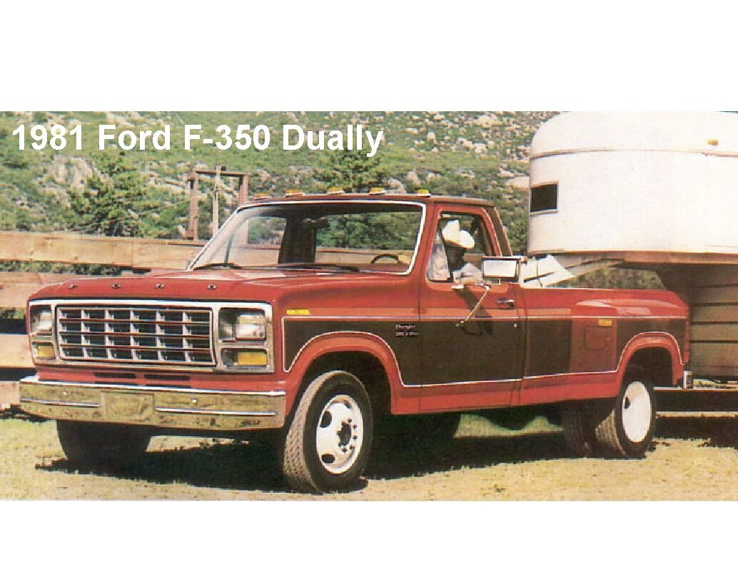 1981 Ford F 350 Dually Pickup Truck Refrigerator Tool Box Magnet