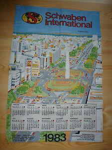 1983-Geburtstag-Kuechenhandtuch-Kalender-Schwaben-International-Geschenk-selten