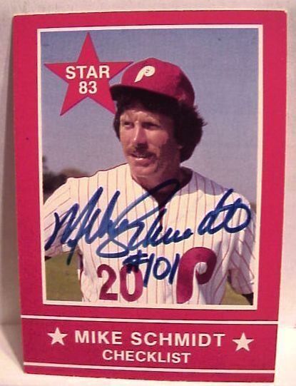 1983 Star Mike Schmidt Phillies Signed Card Set #101