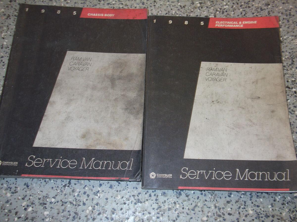 1985 DODGE RAM VAN CARAVAN PLYMOUTH VOYAGER Service Repair Shop Manual