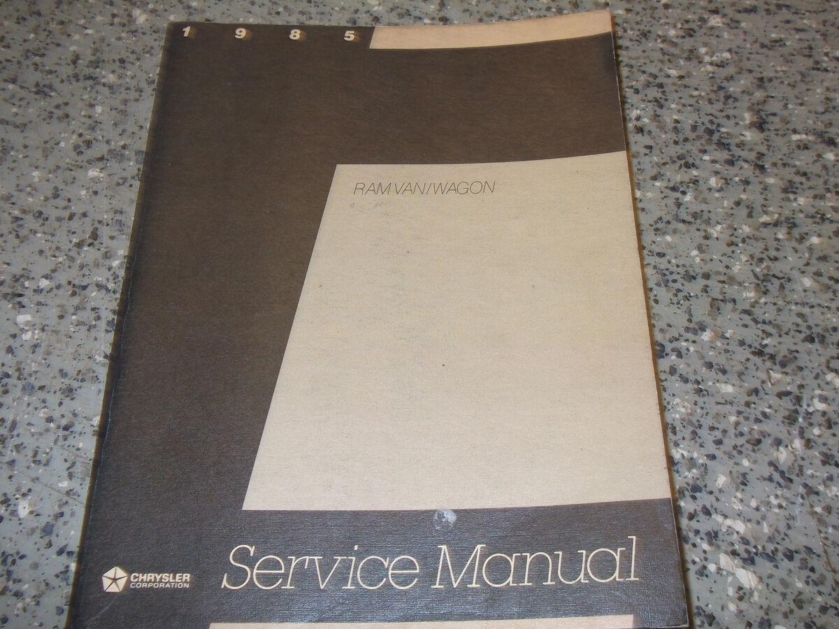 1985 Dodge RAM Van Wagon Service Repair Shop Manual rwd Factory Book