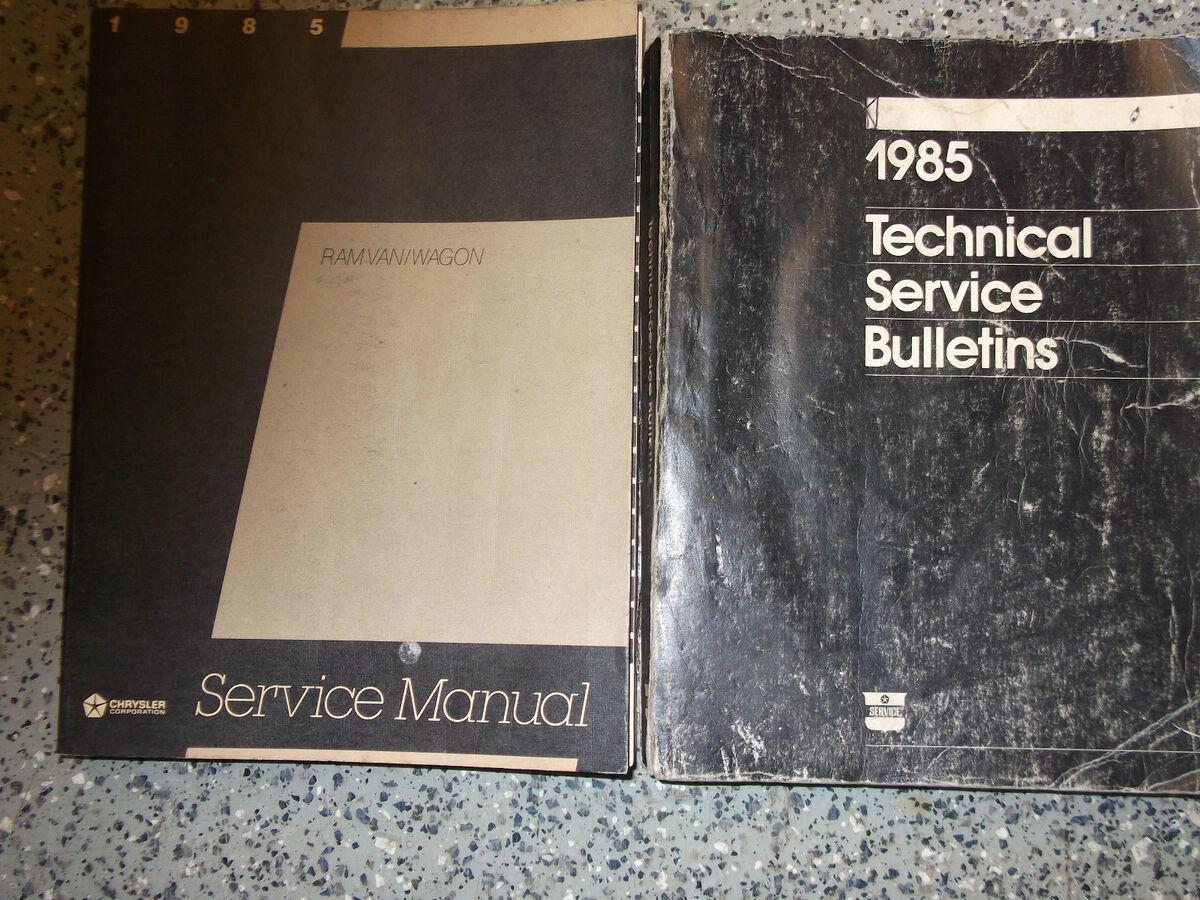 1985 Dodge RAM Van Wagon Service Repair Shop Manual Set rwd Factory