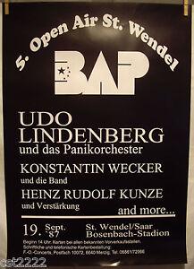 1987 BAP Poster 5. Open Air 19.09.1987 (59x84) selten mit Udo Lindenberg P#022 - Delitzsch, Deutschland - 1987 BAP Poster 5. Open Air 19.09.1987 (59x84) selten mit Udo Lindenberg P#022 - Delitzsch, Deutschland