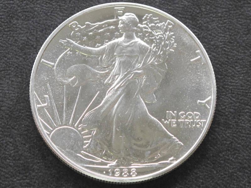 Silver Eagle Coin 1988 American Eagle Silver Dollar