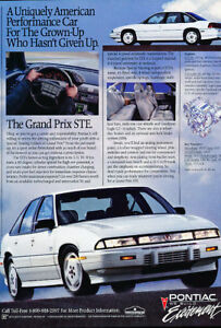 1990 Pontiac Grand Prix Ste WH Classic Advertisement Ad | eBay