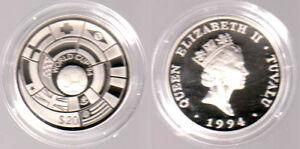 1994 - Tuvalu - 20 $ - Fußball-WM 1994 USA - Flaggen - SELTEN - mit Zertifikat - Eppelheim, Deutschland - 1994 - Tuvalu - 20 $ - Fußball-WM 1994 USA - Flaggen - SELTEN - mit Zertifikat - Eppelheim, Deutschland