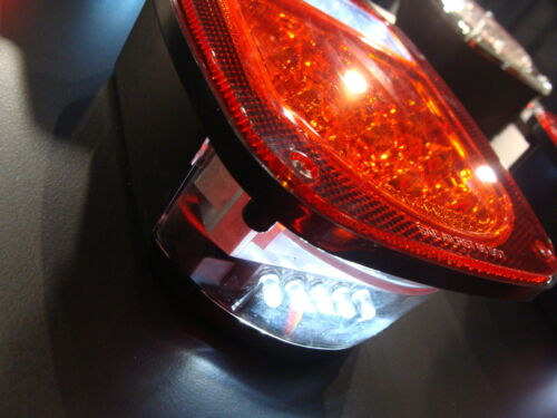 jeep tj led tail light clear lens and red lights new ebay. Black Bedroom Furniture Sets. Home Design Ideas