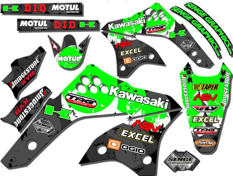 kx 80 100 graphics kit kawasaki kx80 kx100 deco decals stickers on popscreen