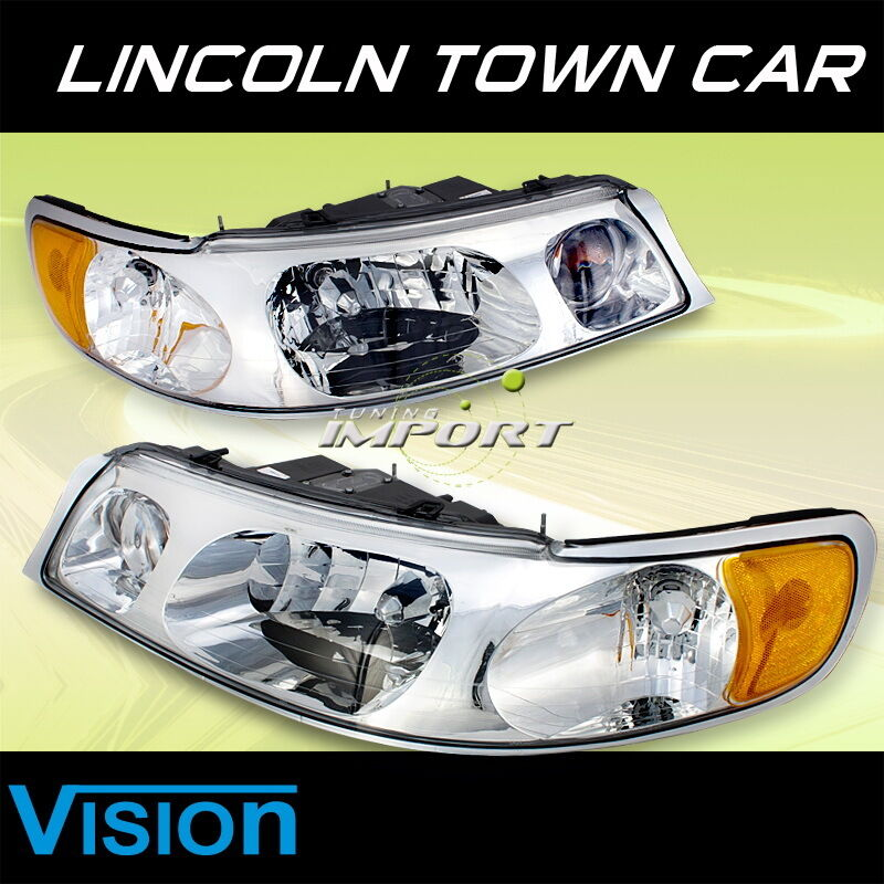 1998 2002 lincoln town car vision sport style replacement headlights. Black Bedroom Furniture Sets. Home Design Ideas
