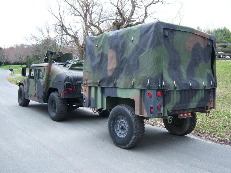 MILITARY HMMWV CARGO TRAILER m101a2 m101a3 m998 m1101 cucv