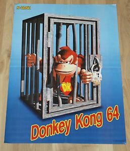 1999 Nintendo Donkey Kong 64 very rare Poster 40x57cm - Deutschland - 1999 Nintendo Donkey Kong 64 very rare Poster 40x57cm - Deutschland