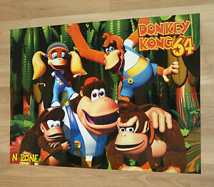 1999 Rayman 2 The Great Escape / Donkey Kong 64 Nintendo N64 Poster 56x40cm - Deutschland - 1999 Rayman 2 The Great Escape / Donkey Kong 64 Nintendo N64 Poster 56x40cm - Deutschland