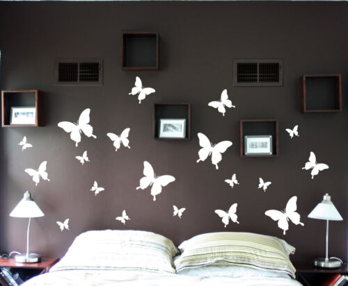 19pcs Butterflies Butterfly set wall art vinyl decal Removable kitchen bedroom in Home & Garden, Home Decor, Decals, Stickers & Vinyl Art | eBay