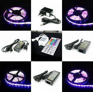 1M-2M-3M-4M-5M-RGB-5050-LED-Selbstklebend-Wasserdicht-Strip-44T-IR-Fernbedienung