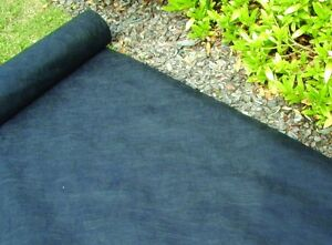 1mx 100m roll of black weed control fabric mulch matting