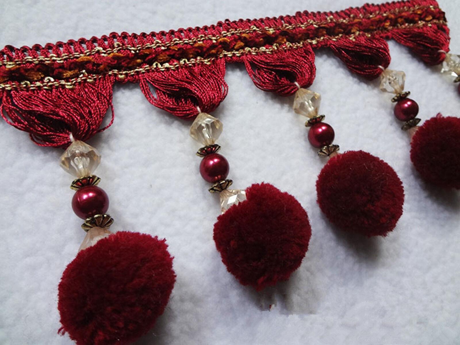 1Meter Craft Pom Pom Ball Tassel Fringe Curtain Carpet ...