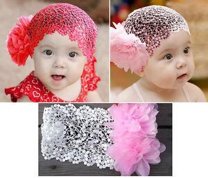1pc kids baby girl toddler children lace headband hair bow