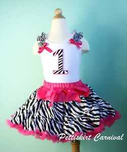 Tank Dress on Pink Zebra Pettiskirt Pettitop Tank Top 2pc Party Dress Outfit   Ebay