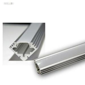 1m led aluminium eck profil pl eck alu eloxiert abdeckung opal 10003240 ebay. Black Bedroom Furniture Sets. Home Design Ideas