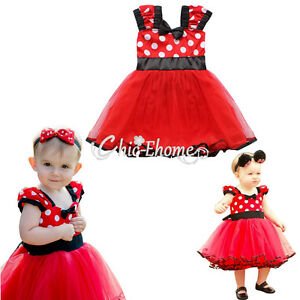 1pc baby m dchen kleid minnie mouse kost m festlich party. Black Bedroom Furniture Sets. Home Design Ideas