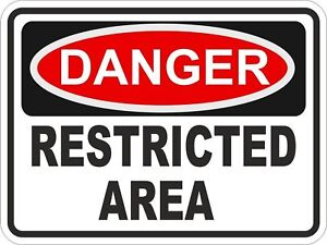 1x Danger Restricted Area Warning Funny Vinyl Sticker | eBay