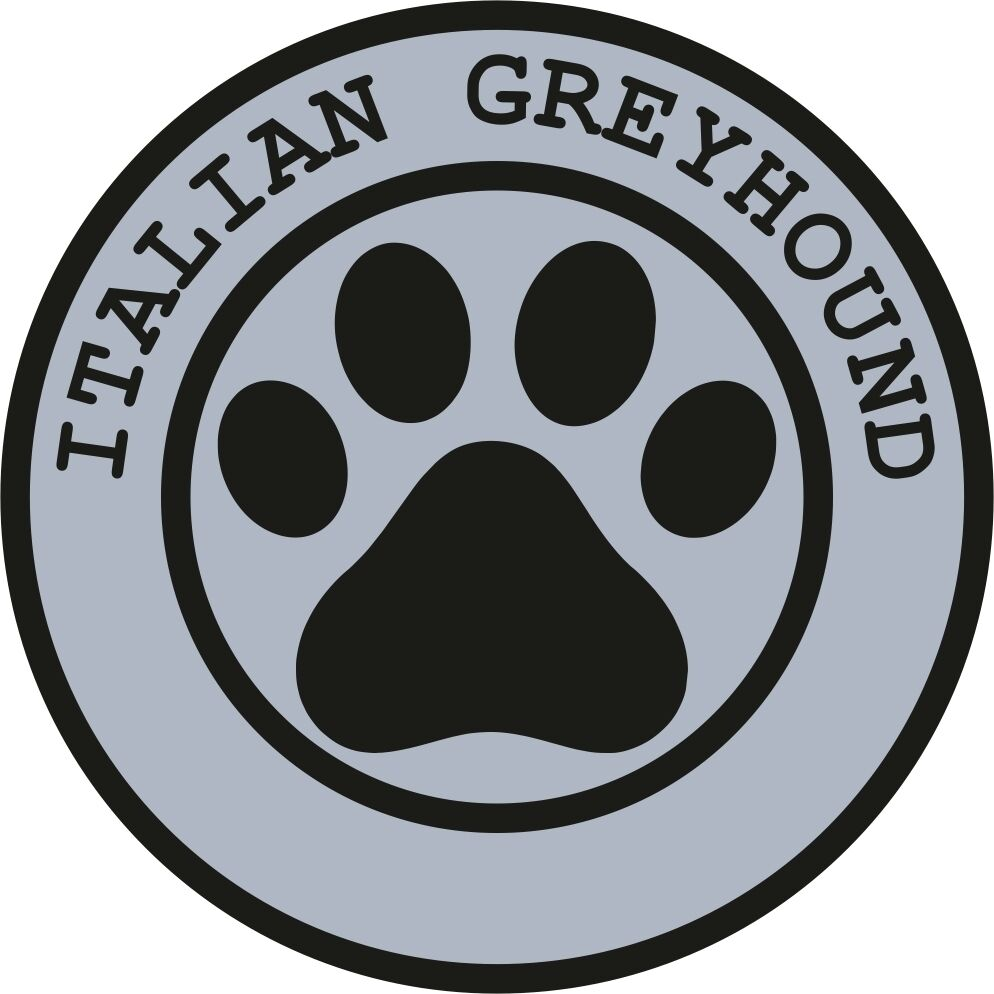 1x ITALIAN GREYHOUND PAW PRINT SEAL TRACK FUNNY STICKER DOG PET DECAL
