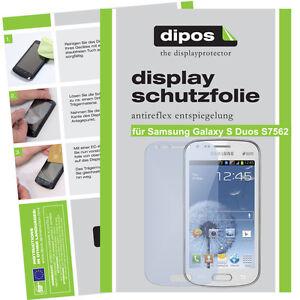 1x-Samsung-Galaxy-S-Duos-S7562-Schutzfolie-matt-Displayschutzfolie-Antireflex