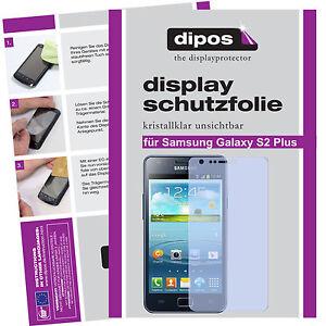 1x-Samsung-Galaxy-S2-Plus-Schutzfolie-klar-Displayschutzfolie-Folie-unsichtbar