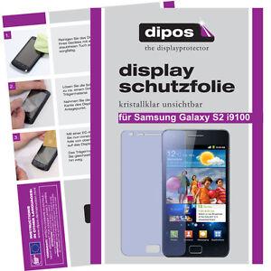 1x-Samsung-Galaxy-S2-i9100-Schutzfolie-klar-Displayschutzfolie-Folie-unsichtbar