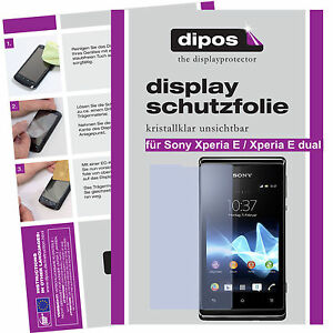1x-Sony-Xperia-E-Xperia-E-dual-Schutzfolie-klar-Displayschutz-Folie-unsichtbar