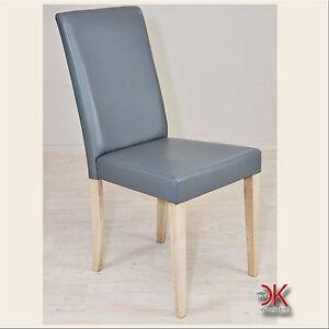 1x stuhl k chen sessel polsterstuhl holzstuhl grau eiche. Black Bedroom Furniture Sets. Home Design Ideas