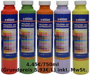 1x750ml tube abt nfarbe volltonfarbe wandfarbe farbt ne malerfarbe farbauswahl ebay. Black Bedroom Furniture Sets. Home Design Ideas