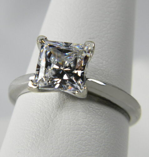 2.00 CT PRINCESS CUT SOLITAIRE ENGAGEMENT RING SOLID 14K GOLD in Jewelry & Watches, Engagement & Wedding, Engagement Rings | eBay