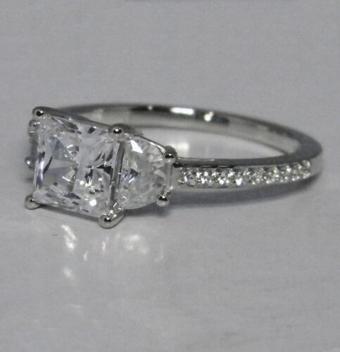 2.15 CTW PRINCESS CUT SOLITAIRE ENGAGEMENT RING W/ACCENTS SOLID 14K GOLD in Jewelry & Watches, Engagement & Wedding, Engagement Rings | eBay