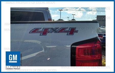 2 2014 4x4 Decals F Stickers Parts Chevy Silverado GMC Sierra Truck Bed Side