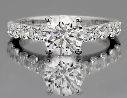 2.27 Ct Vintage Round Cut Diamond Engagement Ring Micropave 14k White Gold in Jewelry & Watches, Engagement & Wedding, Engagement Rings | eBay