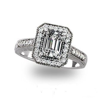 2.38ct. total weight -14k Mtg. with Emerald Cut Halo Engagement Ring Max Bling in Jewelry & Watches, Engagement & Wedding, Engagement Rings | eBay