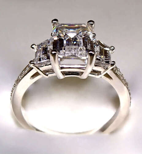2.78 CT EMERALD CUT ENGAGEMENT RING 14K SOLID GOLD NO RESERVE in Jewelry & Watches, Engagement & Wedding, Engagement Rings | eBay