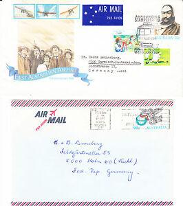 2-Briefe-1-Karte-Bedarfspost-Australien