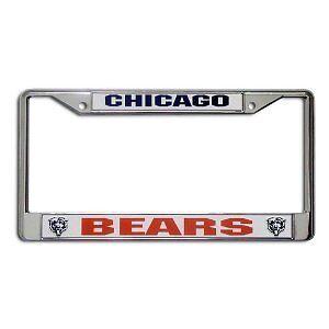 2 Chicago Bears Chrome License Plate Frame Set NFL