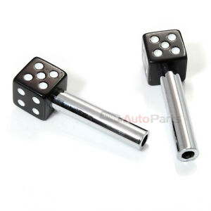 2 custom black dice interior door lock knobs pins for car truck hotrod classic ebay. Black Bedroom Furniture Sets. Home Design Ideas