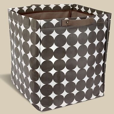 2 DwellStudio Chocolate Dots Large Storage Bins BB400-25-21 Brown White Polka in Baby, Nursery Decor, Boxes & Storage | eBay