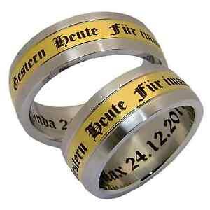 2-Eheringe-Hochzeitsringe-Partnerringe-Verlobungsringe-Ringe-Ring-8-mm-amp-Gravur