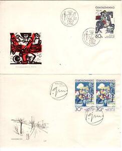 2 FDC Briefe Tschechoslowakei von 1973 - <span itemprop=availableAtOrFrom>Berlin, Deutschland</span> - 2 FDC Briefe Tschechoslowakei von 1973 - Berlin, Deutschland
