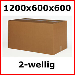 2 faltkartons 1200 x 600 x 600 mm karton dhl paket pappkarton versandverpackung ebay. Black Bedroom Furniture Sets. Home Design Ideas