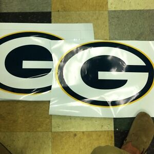 2 green bay packers board decals 13 034 x20 034